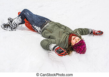 children have fun playing in the snow
