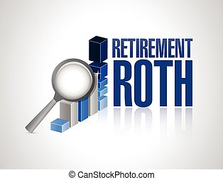 retirement roth business under review concept illustration...