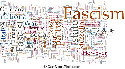 Fascism word cloud - Word cloud concept illustration of...