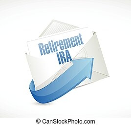 retirement IRA email message illustration design over a...