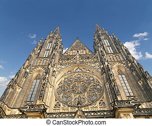 St. Vitus Cathedral (Roman Catholic cathedral ) in Prague...