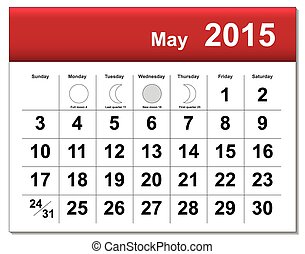 EPS10 file May 2015 calendar The EPS file includes the...