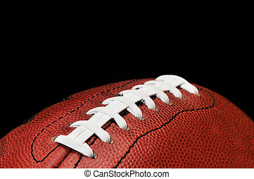 Football Closeup Isolated on Black