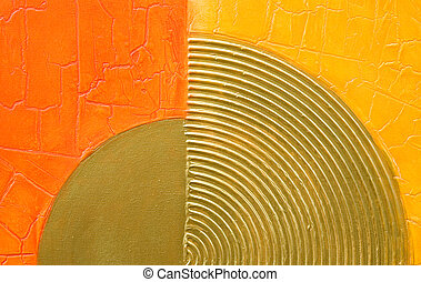modern abstract artwork - abstract artwork with golden...