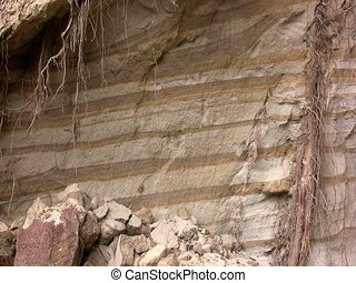 Strata of volcanic ash  - In the Ecuadorian Andes
