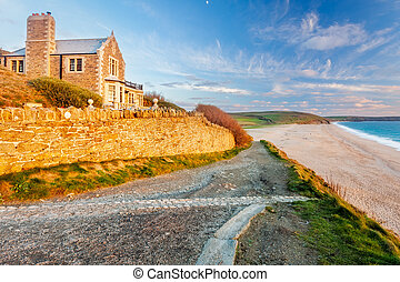 Coastpath at Loe Bar - Coastpath approaching Loe Bar near...