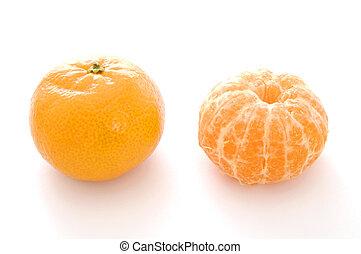 StillLIfe-17-0004 - A whole and a peeled mandarin orange...