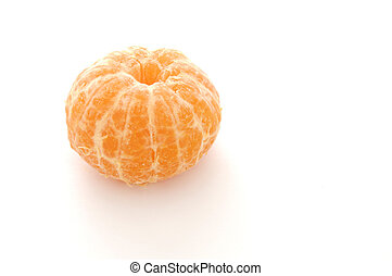 StillLife-17-0003 - Peeled mandarin orange isolated on a...