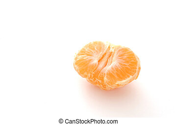 StillLife-17-0007 - Half peeled mandarin orange isolated on...
