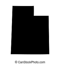map of the US state of Utah