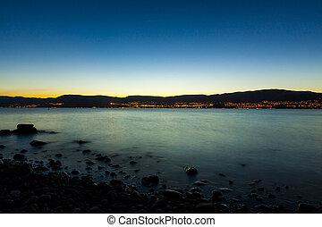 Evening at the shore Lake Okanagan