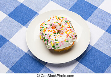 Iced cake donut - A fresh, delicious icing coated cake donut...