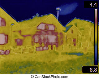 Heat Loss Detection - Thermal Image of a Heat Loss