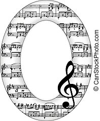 Music Notes Oval Picture Frame - Music notes oval picture...