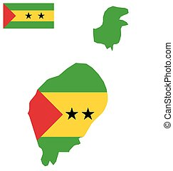 Sao Tome and Principe Flag - Flag of the Democratic Republic...