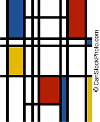 mondrian background retro print - mondrian inspired vibrant...