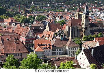 Esslingen am Neckar views from Castle Burg near Stuttgart,...