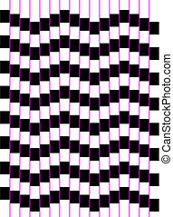 Optical art series: A wave of squares - Optical art of a...