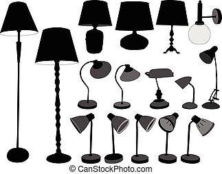 lamps collection - vector - illustration of lamps collection...