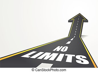 No Limits - detailed illustration of a highway road going up...