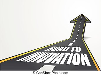 Road To Innovation - detailed illustration of a highway road...