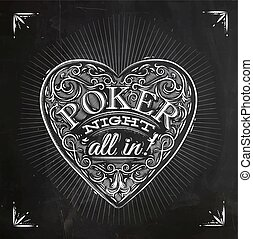 Chirwa poker night chalk - Sign chirwa in vintage style...
