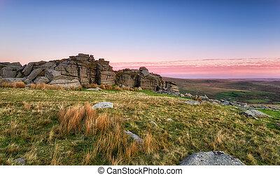 Staple Tor on Dartmoor - Stapel Tor near Merrivale on...