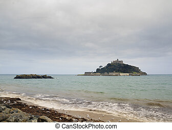 St Michaels Mount Cornwall - St Michaels Mount in Cornwall,...
