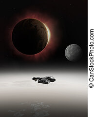 Interstellar Spaceship with Eclipse