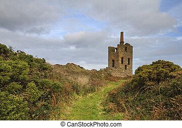 Levant tin Mine in cornwall UK - Levant Mine and Beam Engine...