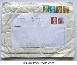 Airmail - Postage letter envelope for air mail shipping
