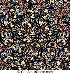 Seamless tribal mandala background. Indian seamless pattern....