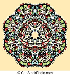Mandala vector Stylized indian tribal flower like chakra or...
