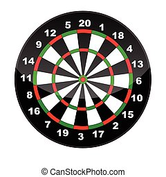 Dart board - Vector Illustration of a dart board isolated on...
