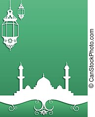 Ramadan Background - Green Ramadan themed background design...