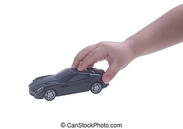 toy toy car with hand on the background