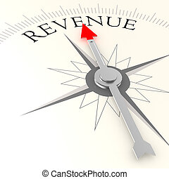 Revenue compass image with hi-res rendered artwork that...