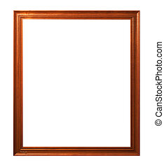 frame - Wooden frame isolated on white background