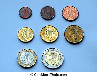 Euro - Full range of Euro coins from Ireland
