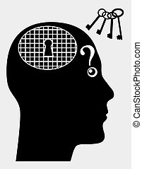 Mental Disorder - Concept sign of person suffering from...