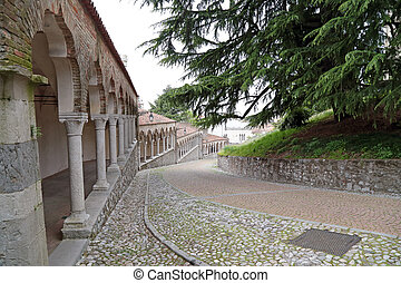 To the Castle of Udine, Italy - Steep climb to the Castle of...