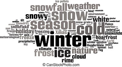 Winter word cloud concept. Vector illustration