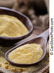 Portion of Cornmeal - Portion of fresh Cornmeal close-up...