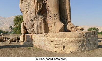 colossi of memnon statues in Luxor Egypt - colossi of memnon...
