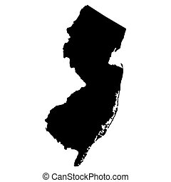 map of the U.S. state of New Jersey
