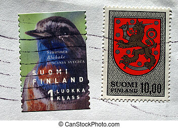 Range of Finnish postage stamps from Finland