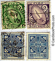 Range of Irish postage stamps from Ireland