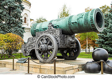 Tsar Cannon in Moscow, inside the Kremlin