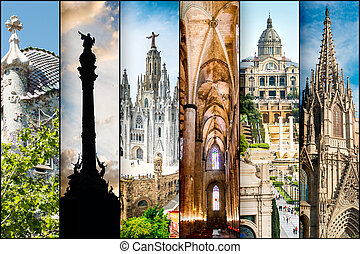 Barcelona - colllage of different photos Barcelona