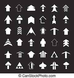 Set icons of arrows